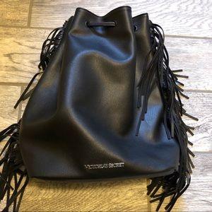 NWOT VS Fringe drawstring backpack bag purse